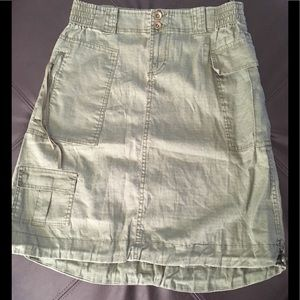 Vintage women's knee length skirt Olive S L XL